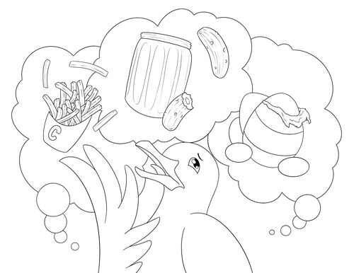 Murray and the Seagull Colouring Page 2